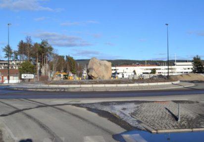 Huser entreprenør ny rundkjøring på Bjørklangen